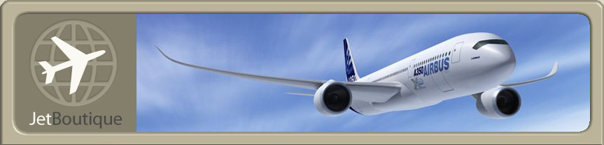 Site Logo and Airbus A350 Jet